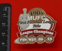 MANCHESTER UNITED 90/'S EMBLEM PREMIER LEAGUE LOGO ENAMEL FOOTBALL PIN BADGE
