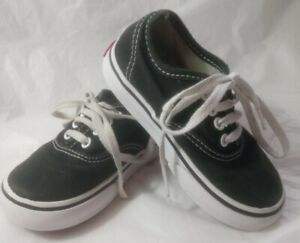 BABY VANS SIZE 6 INFANT UK AUTHENTIC BLACK AND WHITE SPRING SUMMER VGC