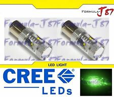 LED Light 30W 1156 Green Two Bulbs Stop Brake Rear Replace Show Use OE JDM Color