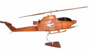 AH-1F Cobra Premium Mahogany Wood Display Desk Model