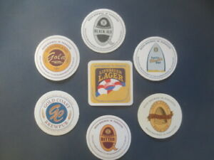 complete set of 7 GOLD COAST Brewpub Brewery,Queensland 2002 Issue COASTERS