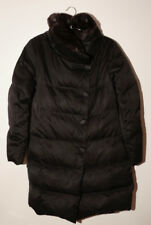 Apostrophe black parka/duffle coat with fur collar