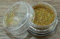 FINE GLITTER DUST POWDER 2g For Acrylic or Gel Nail Art - Gold