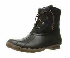 Sperry Women's Saltwater Rain Boot, Black Quilted Nylon, US 8.5 M (EU 39.5)