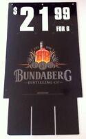Vintage Bundaberg Rum Double Sided Cardboard Advertising Display Sign