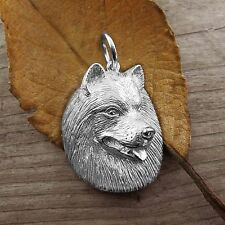 Sterling Silver SAMOYED DOG Pendant or Charm