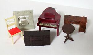 Lot of Vintage Plastic DOLL HOUSE FURNITURE Marx, Renwel