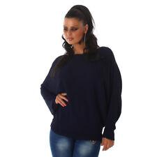Sexy Fledermaus Oversize Sweatshirt Shirt Pulli Pullover 34 36 38 Navy