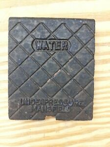 Vintage Old Style Cast Iron Water Meter Cover old rare 1950's Mansfield