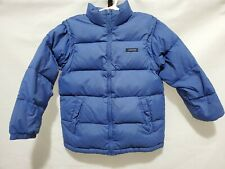 Lands End Boy Down Goose Feather Puffer Coat Jacket w/ Removable Sleeves 7/8 S