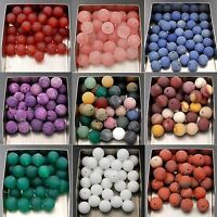 Frosted Matte Natural Gemstones Spacer Round Loose Beads 4mm 6mm 8mm 10mm