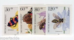 1984 Germany Sc #B616-619 ** MNH VF - Flowers, Insects & Beetles stamp set
