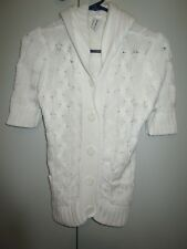 Ladies Jeanswest short sleeve cotton cardigan  with hood Size XS