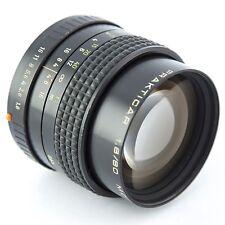 Prakticar Carl Zeiss Jena PANCOLAR 80 mm f1.8 primer lente 1.8/80 Mc Praktica