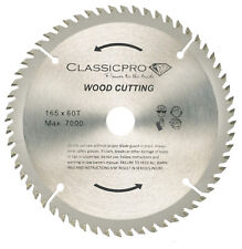 Classicpro TCT 165mm x 20mm/16mm Bore 60T Circular Saw Blade For Wood UK