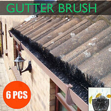 100mm X 6M Gutter Brush Guard Outdoor Gutter Protector Filter Leaf Twigs Black