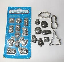 Chocolate moulds Cookie cutters Vintage Baking Sugar craft Xmas Animals  8