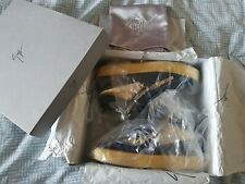 Authentic Guiseppe Zanotti Homme High Top Bottes/Baskets Or/Noir Taille 46/11