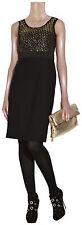 $395 DKNY Sleeveless Gold Sequined Bodice Black Dress 6