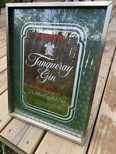 Vintage Tanqueray English Gin Bar Mirror Man Cave Sign Alcohol Advertising