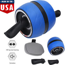 Ab Roller Wheel Abs Crunch Machine Abdominal Stomach Slide Exercise Roller