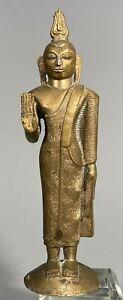 Fine Rare Sri Lanka Sri Lankan Bronze Standing Figure of Buddha ca. 19-20th c