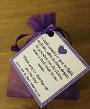 WEDDING Favours GUESTS CANDLES place setting - vanilla any colour, personalised