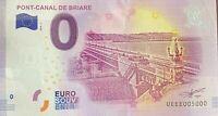 BILLET 0  EURO PONT CANAL DE BRIARE FRANCE 2018  NUMERO 5000 DERNIER BILLET