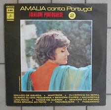 """AMALIA RODRIGUES LP 33 GIRI 12"""" AMALIA CANTA PORTUGAL FOLKLORE PORTOGHESE 2 ITA"""