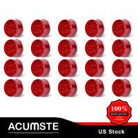 20* Marker Side Light Red Lens 2 Inch Round Clearance 12V For Truck Direct Use