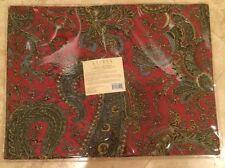 RALPH LAUREN Bridgette Paisley Print 100% Cotton Fabric Set of 4 Placemats NEW