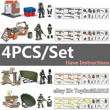 Military Special SWAT Police Building Bricks Figures Educational Toys 4PCS/Set
