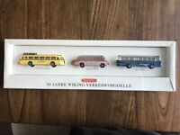 Wiking HO 1/87 Buses 50 Jahre Wiking-Verkehrsmodelle Vintage Limited Edition NIB