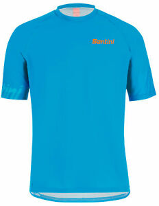 Santini Sasso MTB Jersey- in Turqoise - Made in Italy