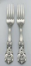 "Qty 2 Reed & Barton Francis I Sterling Silver 7-1/4"" Place Forks, Old Mark"