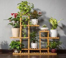Bamboo Wooden Plant Stand Garden Planter Flower Pots Stand Shelf Indoor Outdoor