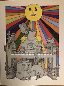 "Daniel Johnston,Sun Shines Down.Jim Stoten,Indie Rock Mini Poster 14X10 3/4"" D19"