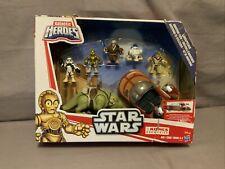 Star Wars Galactic Heroes Landspeeder Adventure  Disney Dewback NRFB Damaged Box