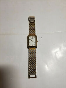 Vintage Gold Tone Rectangle Timex CR 1216 Watch