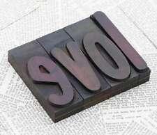 """LOVE"" Holzbuchstaben Drucklettern Holzbuchstaben Vintage letterpress wood type"
