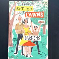 1955 AMERICAN CHEMICAL PAINT CO vintage gardening booklet BETTER LAWNS & GARDENS