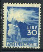 Italia Repubblica 1945 Sass. 563 Nuovo ** 100% Democratica 30 l.