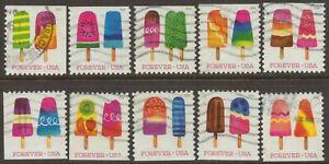 Scott #5285-94 Used Set of 10, Frozen Treats (Off Paper)