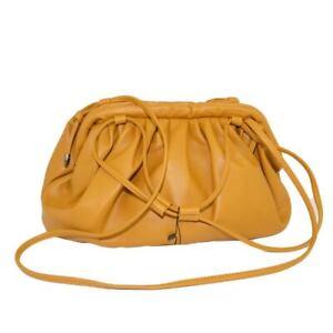 Borsa donna pochette oversize cuoio arricciata linea veneta con tracolla chiusur