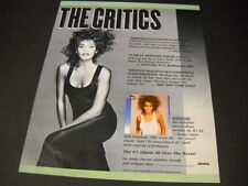 Whitney Houston multi critic hype quotes 1987 Promo Poster Ad mint condition