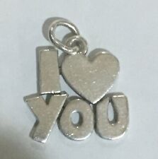 Retired Large James Avery I Heart  Love You Sterling Silver