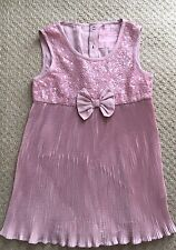 NEXT GIRLS PINK PARTY TOP AGE 9 Excellent Condition