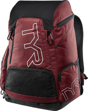 TYR Alliance Team Carbon Print Backpack - 45L- Red