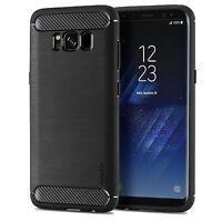 Samsung Galaxy S8 & S8+ Plus Case Ultra Slim Schutz Hülle Cover TPU Carbon