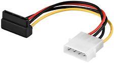 SATA Strom Kabel Adapter 4 PIN Stecker auf S-ATA Buchse gewinkelt 15cm 0,15 m